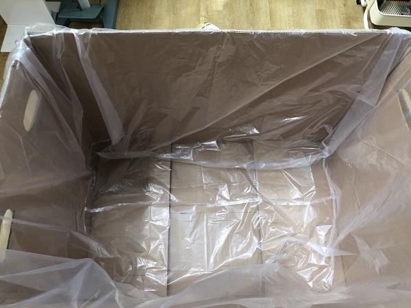 ถุงมุ้งรองก้นกล่องสินค้า