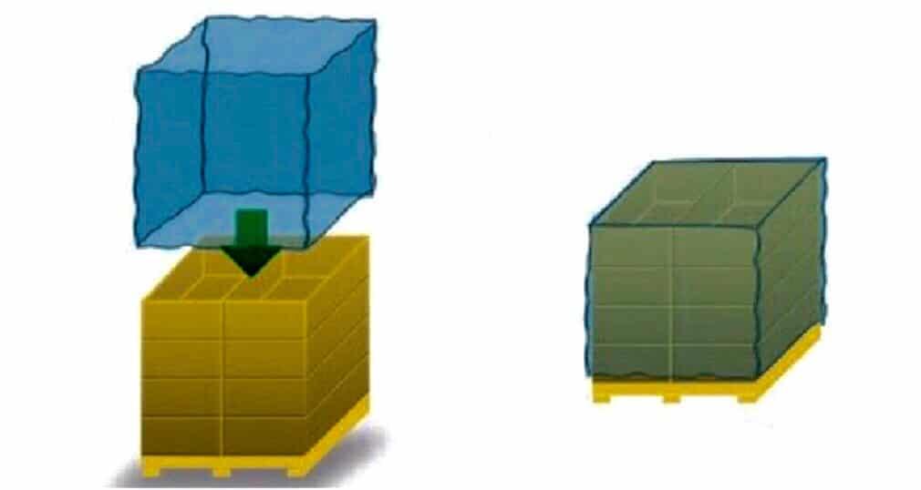 ภาพประกอบตัวอย่างการใช้ถุงมุ้งเพื่อคลุมสินค้า