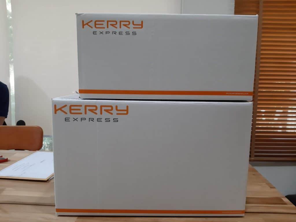 ตัวอย่างกล่องพัสดุ Kerry